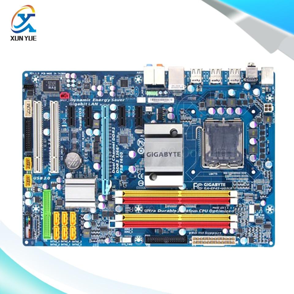 Gigabyte GA EP45 UD3LR Original Used Desktop Motherboard EP45 UD3LR P45 LGA font b 775 b