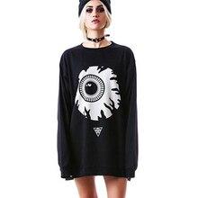 Harajuku Gothic Sweatshirt Women Streetwear Black Punk Casua