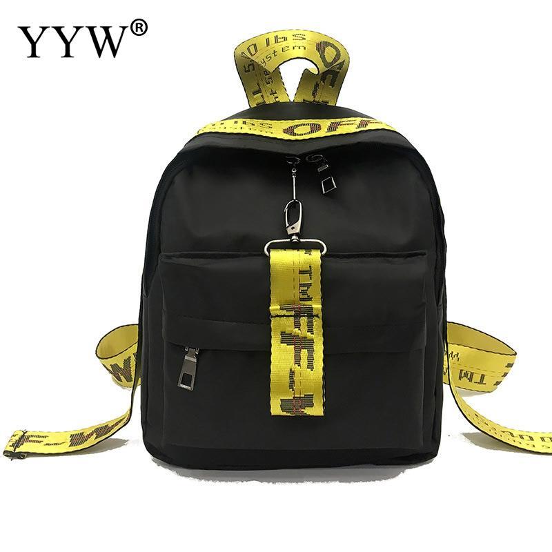 Casual Letter Backpack Women School Bag Back Shoulder Black Bookbag Female Travel Backpack Female Bagpack Mochila Feminina 2019