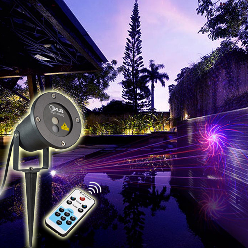 Outdoor Waterproof Latest RB Laser Light Christmas Lights Projector Garden Grass Landscape Decorative Light With 8 Patterns