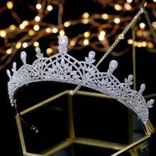ASNORA Cristais Brilhantes Tiara nupcial Do Casamento Coroa De Noiva coroa de noiva Acessórios Do Cabelo Do Casamento Cabelo Jóias Quecess Coroas