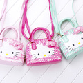 Hot new arrival Hello Kitty girl's princess Sequins bag wallet purse portable messenger children handbag