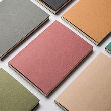 BLINGIRD-cubierta de papel de color simple, cuaderno de malla de 5mm, diseño de fuente de UI, libro de coordenadas, diario desnudo, papelería, cahier note