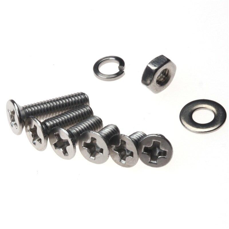 300PCS Flat Head Stainless Steel Countersunk Head Screw M3*4/5/6/8/10/12 with Plastic Box 20pcs m3 6 m3 x 6mm aluminum anodized hex socket button head screw