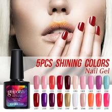 10 ML Diamond Glitter UV Gel Esmalte de Uñas Empapa de Larga Duración de Colores UV Esmalte de Uñas de Gel Del Arte Del Clavo de 60 Colores Para Elegir 1 Unids Gel