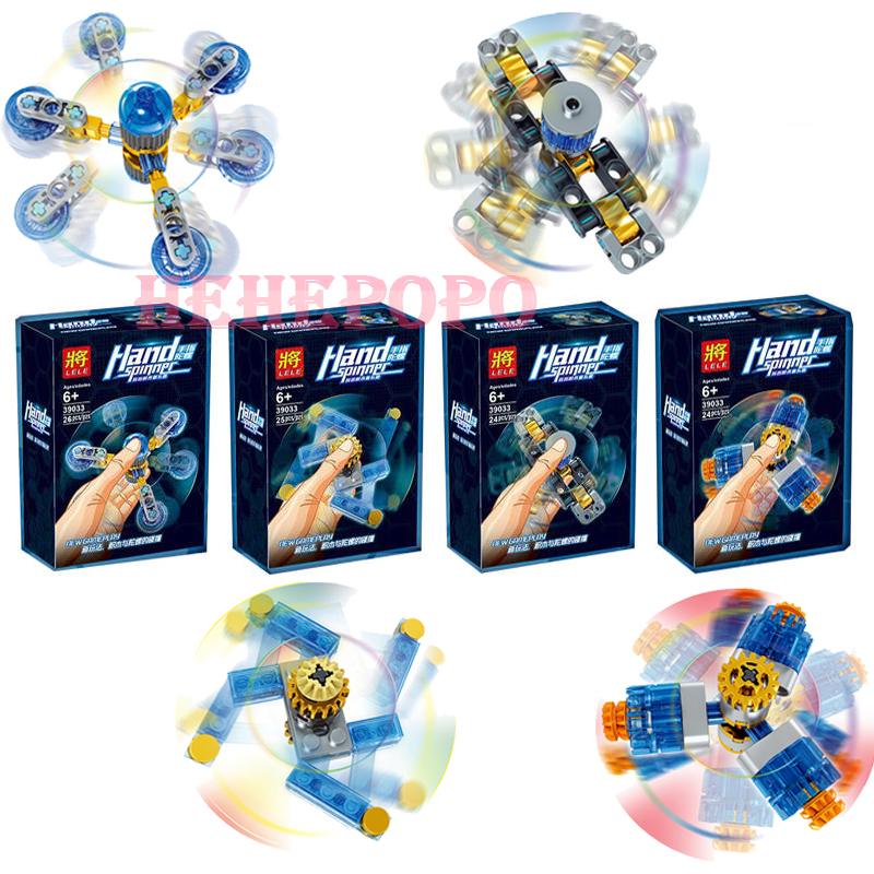 In Stock Sale 2019 Ny Finger Toy 4Pcs / Set ABS Plastic Håndspinder uden original boks Fidget Creative Blocks Finger Spinner