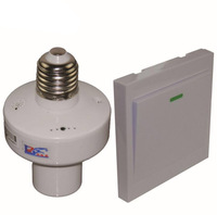 AC220V E27 Screw Wireless Remote Control Light Lamp Bulb Holder Cap Socket Switch And Wall Transmitter