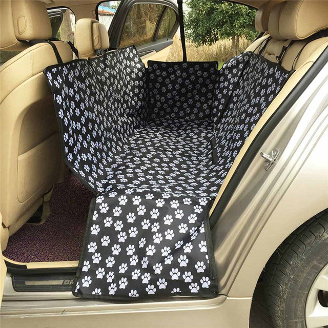 600D Oxford Pet Car Seat Covers Waterproof Back Bench Seat Car Interior Travel Accessories Car Seat Covers Mat for Pet Dogs 2