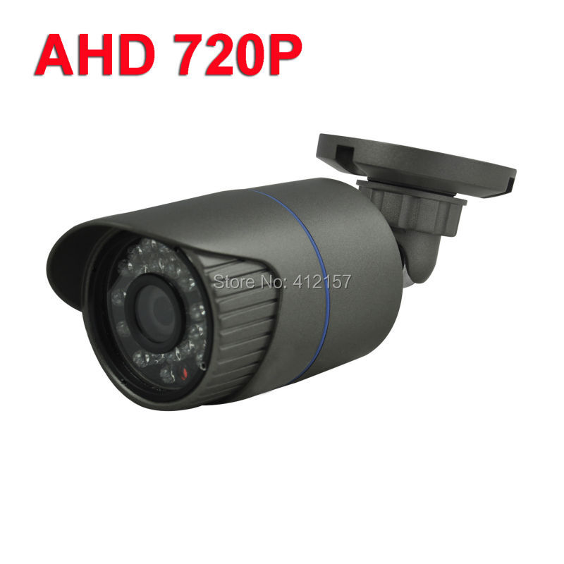 CCTV Outdoor Waterproof IP66 Surveillance Video Security AHD 720P Bullet 1200TVL Camera 1.0MP 24pcs IR LEDs IR-CUT Metal CaseCCTV Outdoor Waterproof IP66 Surveillance Video Security AHD 720P Bullet 1200TVL Camera 1.0MP 24pcs IR LEDs IR-CUT Metal Case