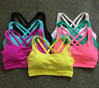 Free Shippping Women Tank Tops Fitness Shock Proof Quick Dry Backless Cross Tanks Push Up Crop