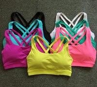 Eshtanga Brand yoga bra Women Tank Tops Fitness Shock Proof Quick Dry Backless Cross Tanks Push Up Crop Bra Size XS XL