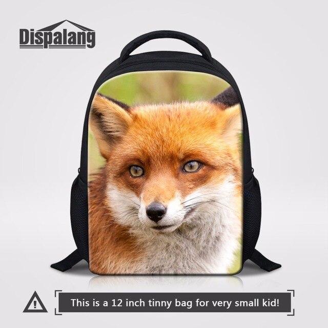 36561bd088 Dispalang Fox Padrão Animal Crianças Mochilas Escolares Saco de Crianças do  jardim de Infância Mochila Escolar