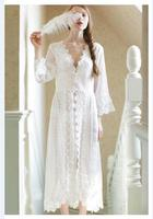 New Royal Style White Maternity Lace Dress Pregnant Photography Props Pregnancy Maternity Photo Shoot Dress Nightdress Gown
