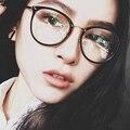 SHAUNA Moda Mulheres Rodada Óculos de Armação de Metal Pernas Óculos de Lente Clara