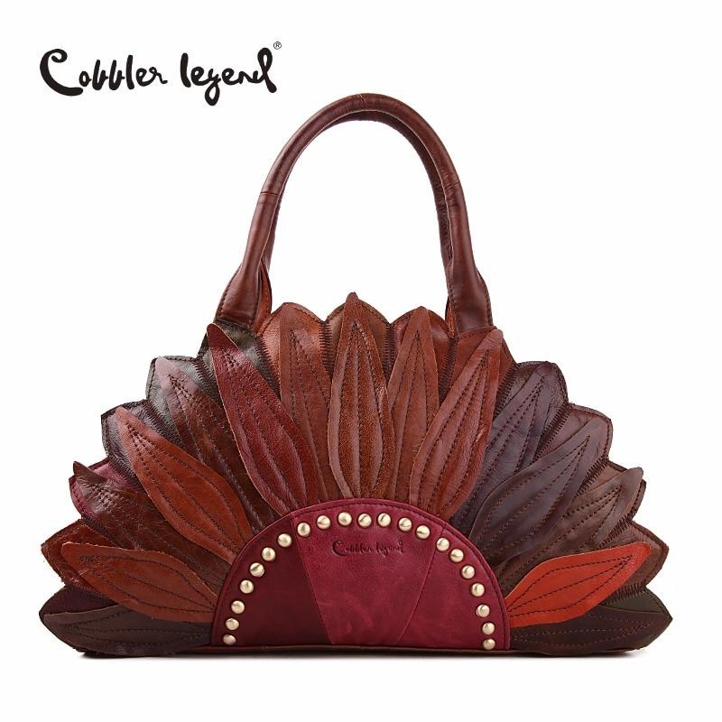 Cobbler Legend 2019 New Women's Handbags Shoulder Genuine Leather Bag Superior Cowhide Leather Female Bag Women Handbag #1204101