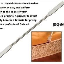 Удобный и энергосберегающий инструмент для обработки кожи, вогнутый край, масляная ручка, рисование стержней, аксессуары для ремонта, нержавеющая сталь