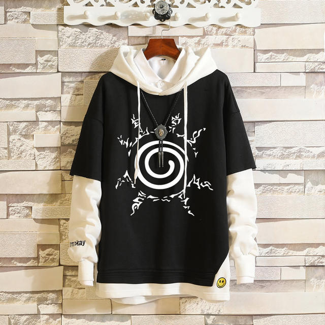 NARUTO THEMED PULLOVER HOODIE (8 VARIAN)
