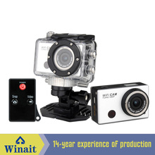 Freeshipping Professional WIFI Waterproof Sports DV Action Camera With Remote Control H.264 1080P HD 120degree Wide Angle Lens