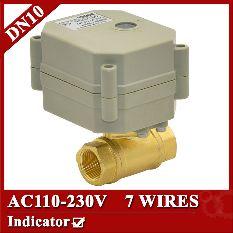 3 8 Quot Ac110 230v Electric Ball Valve 7 Wires Cr704 Dn10