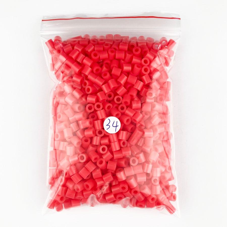 1000 pcs/Bag 5mm Hama Beads/ PUPUKOU Iron Beads KID FUN.Diy Intelligence Educational Toys Puzzles 14