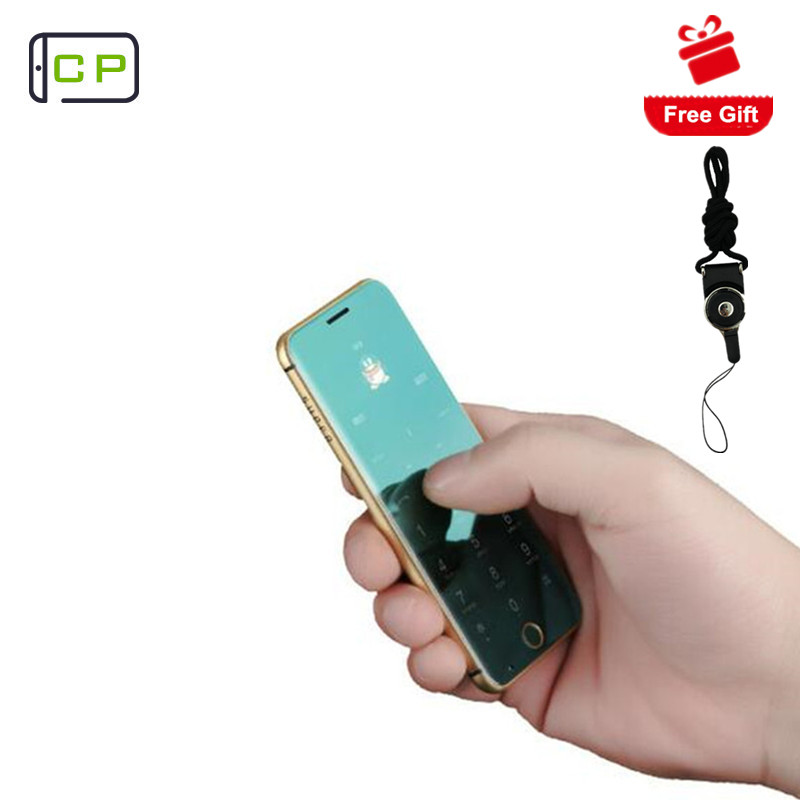 Original Anica A16 mini mobile Phone Ultrathin Luxury phone player Bluetooth 1.63inch credit card cell phone with MP3 mobile phone