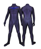Night wing Costume for Kid and Men Adult costumes 3D Print Halloween Party Bodysuits Jumpsuits Batman Dick Grayson Fullbody Suit