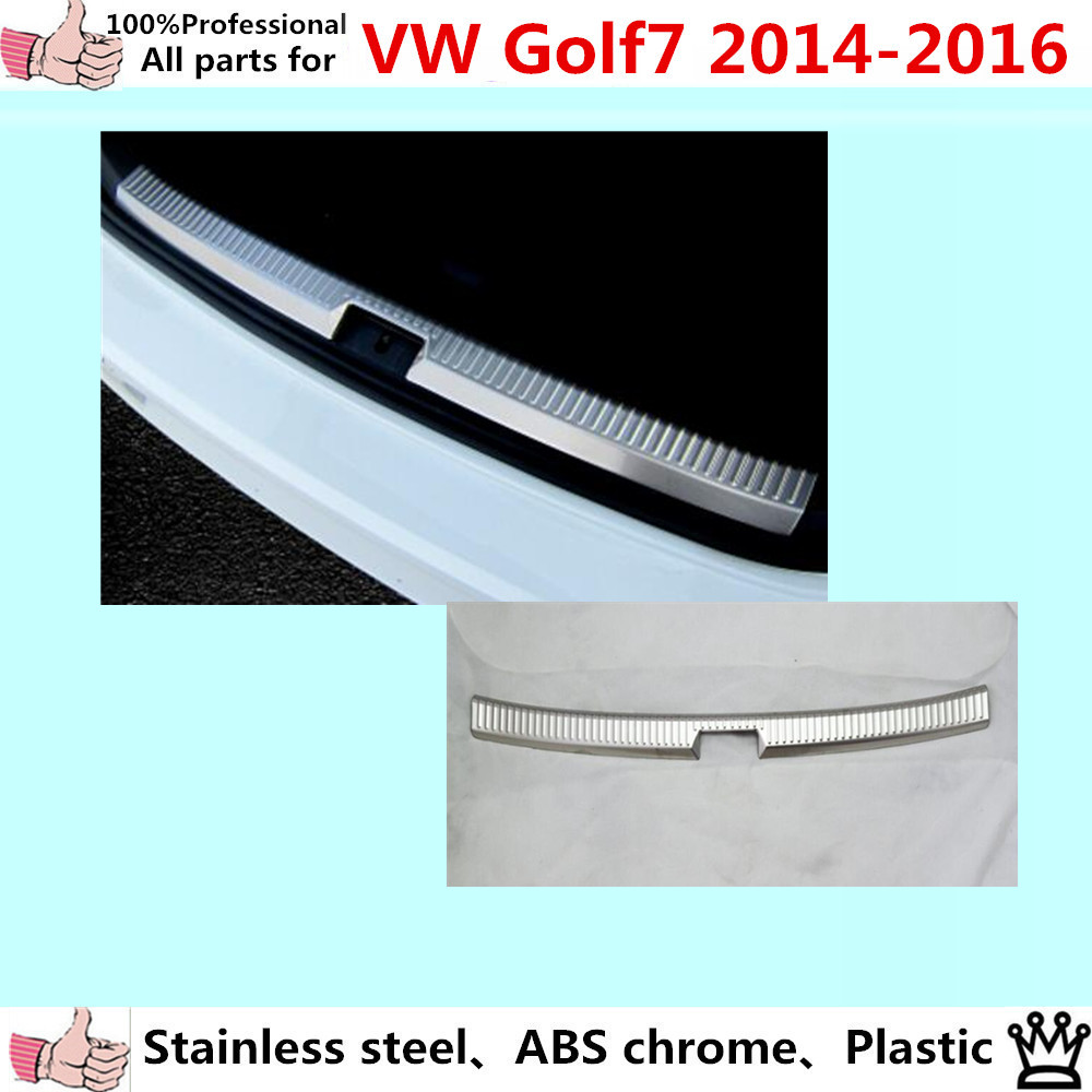 For Volkswagen Golf 7 2014-2016 car body inside Rear Bumper trim Stainless Steel Scuff Sill trunk plate pedal panel lamp hood car rear trunk security shield cargo cover for volkswagen vw tiguan 2016 2017 2018 high qualit black beige auto accessories