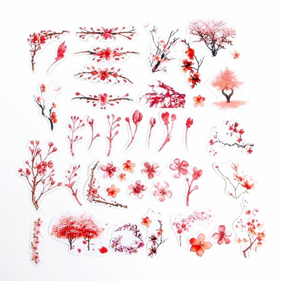 1 Box Schöne Rosa Blumen Klassische Kawaii Stil Graffiti Aufkleber Für Moto Auto & Koffer Laptop Aufkleber Skateboard Aufkleber SchnäPpchenverkauf Zum Jahresende