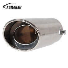 AuMoHall Straight Stainless Steel End Pipes Automobile Exhaust Pipe Car Tail Pipe Car Styling Exhaust System Throat Pipes