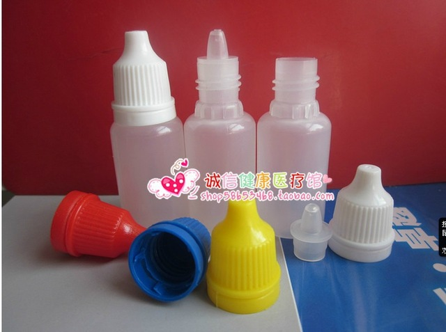 Free Shipping 50 Pcs 20 Ml Plastic Dropper Bottle, Clear Drop Bottle With Pilfer Proof Cap Color Cap