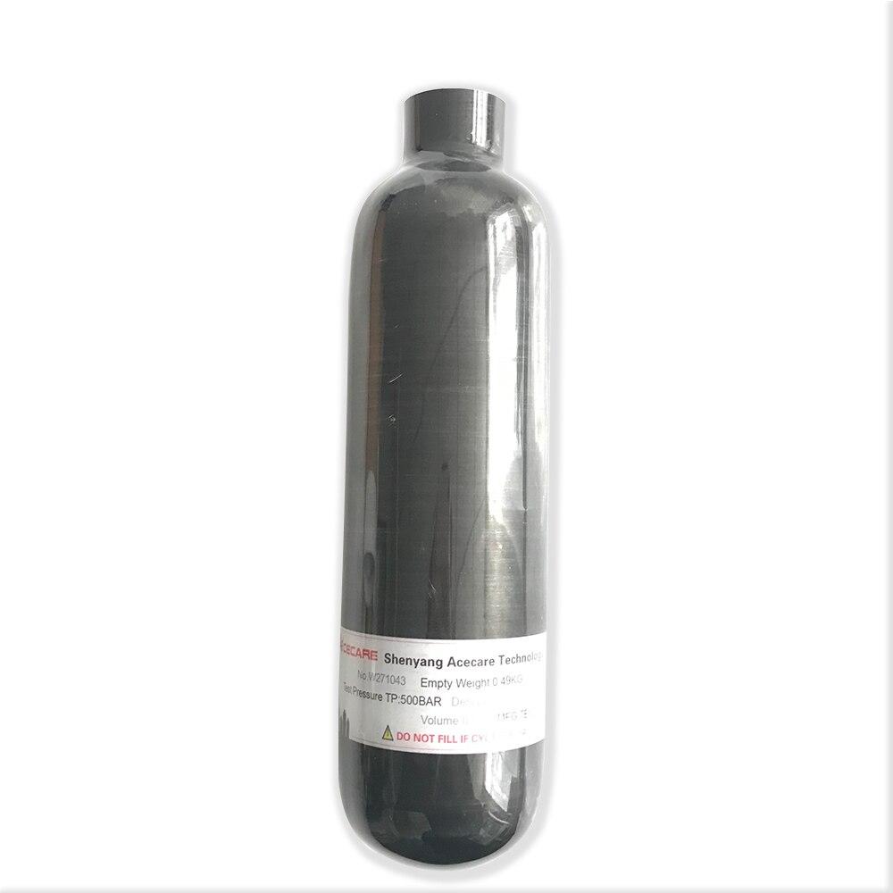Livraison Gratuite Acecare Petite Fiber De Carbone Cylindre 0.35L 350cc 300Bar 4500psi Paintball Réservoir PCP Bouteille pour Vente Drop Shipping