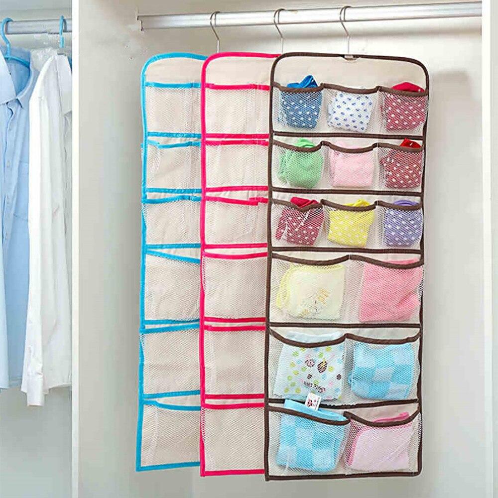 22 Pocket Shower Organizer Bathroom Tub Shower Bath Hanging Mesh Organizer Caddy Storage Bag Organizer