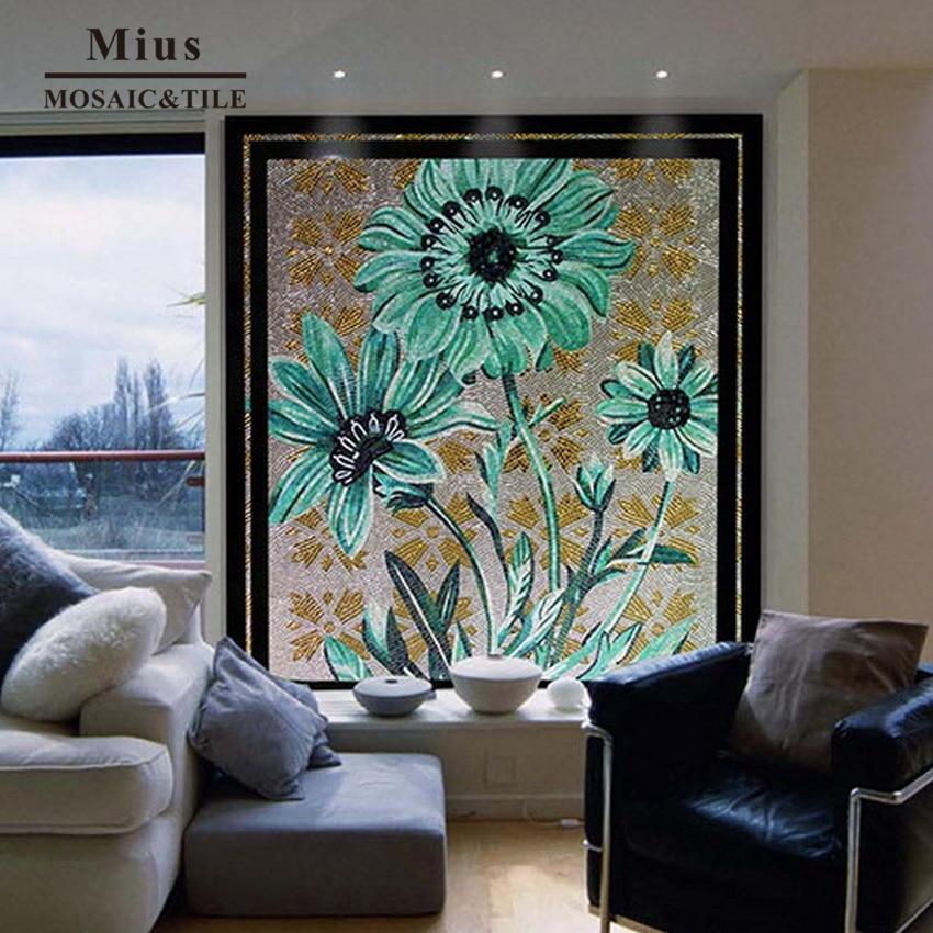 Sunflower glass mosaic mural wall tile sunflower sf20110907z