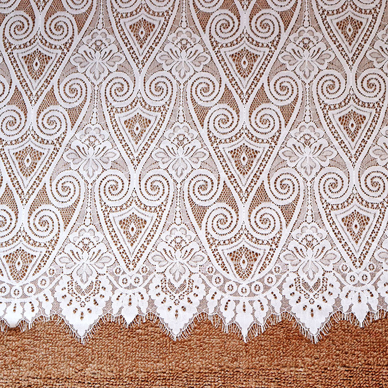 3 Meters French Eyelash Lace Fabric 150cm White Black DIY Lace Embroidery Clothes Wedding Dress Accessories Eyelash Lace Trims in Lace from Home Garden