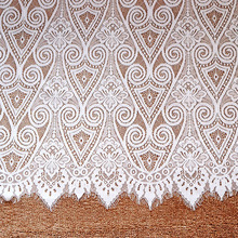 3 Meters French Eyelash Lace Fabric 150cm White Black DIY Embroidery Clothes Wedding Dress Accessories Trims
