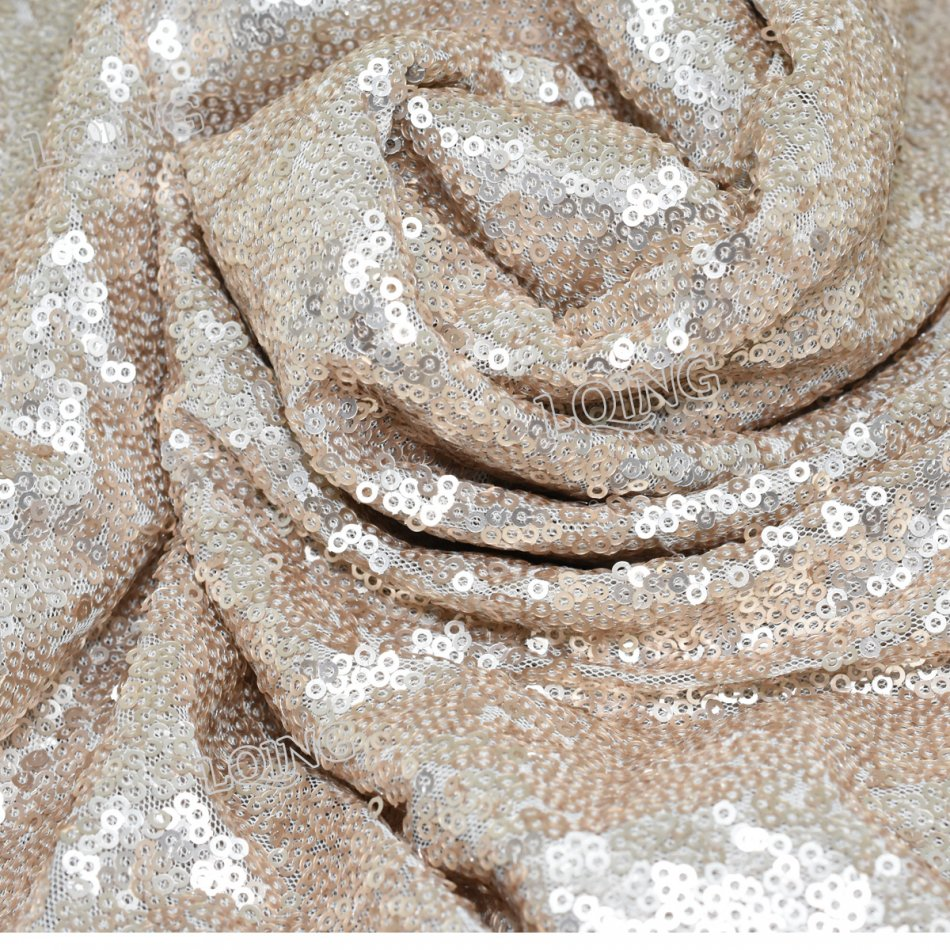 champagne sequin fabric-017