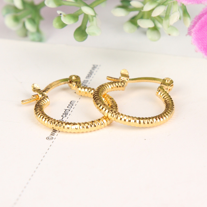 Bangrui Round Earrings Basketball Trendy Yellow Color Fashion Jewelry Wholesale middle size Hoop Earrings Women