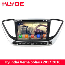 KLYDE 8″ Octa Core 4G WIFI Android 8.0 4GB RAM 32GB ROM BT Car DVD Multimedia Player Radio For Hyundai Verna Solaris 2017 2018