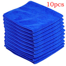 10 PCS/lot Microfiber Cleaning Product Detailing Cloths Wash Towel Duster Blue dropshipping  For Home Hotel bath  clean