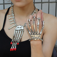 Coolest Unique Fashion Style Halloween Hand Skeleton Elastic Bracelet Bangle RCH Freeshipping Party Weapon