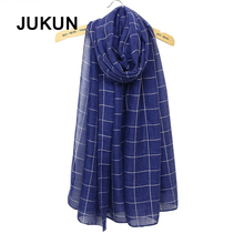 TR cotton men women scarf confortable plaid female autumn winter warm shawl geometric leisure