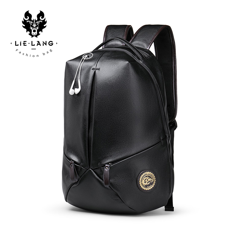 LIELANG Backpack leather Men Waterproof Large Capacity 15 6 Inch Laptop Bag Backpack Men School Bags