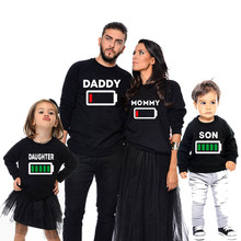 family matching clothes look father mother son daughter outfits t shirts clothing mom mum mommy and me boy girls dresses clothes(China)