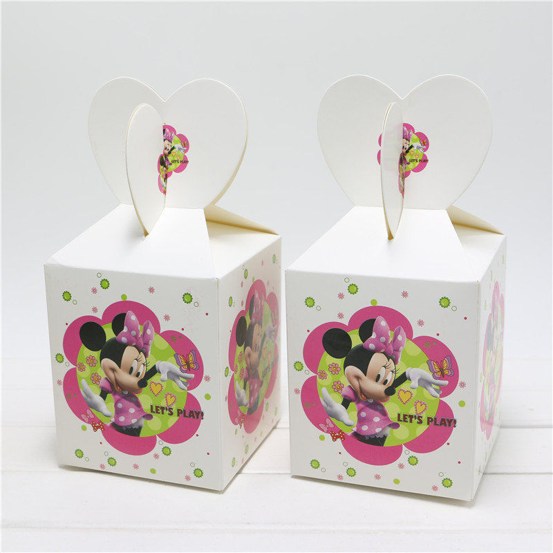 c3f2cd0df083 Detail Feedback Questions about 6PCS Minnie Mouse Supplies Paper Bags Baby  Shower Souvenirs Gift Box Favor Candy Birthday Party Kids Decorations Event  ...