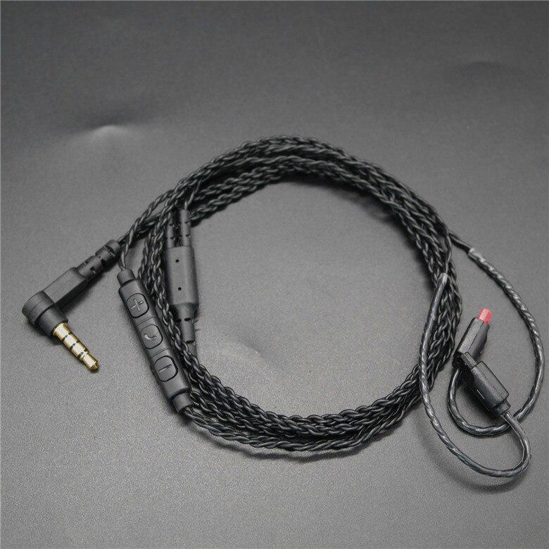 Оригинальный 10 шт. кабель наушников для ATH-IM01/IM02/IM03/IM04/IM50/IM70 3,5 мм золото покрытием Съемная обновления APTX Заводская распродажа OEM