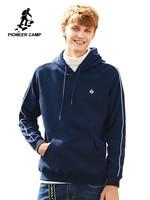 Pioneer Camp thicken hoodies sweatshirt men brand clothing autumn winter warm fleece tracksuit male quality cotton AWY702308