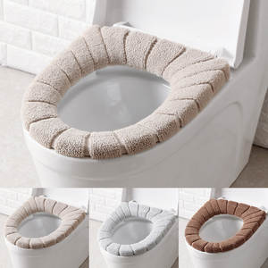 Toilet-Mat Cover Washable-Warmer Bathroom Comfortable Winter Seat-Cushion Filling Thickened
