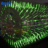 Wb023 световой/флуоресценции воды надувной цилиндр ролик/надувных шарика ходить по воде мяч aqua катящийся шар