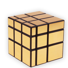 3x3x3 Magic Mirror Cube professional Speed Gold Silver cubo magico Cast Coated Puzzles magic cube education