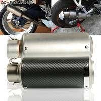 51 61mm FOR MT09 Motorcycle Exhaust Pipe Muffler Carbon Fiber Exhaust Pipe for Yamaha MT07 MT 07 mt 07 2014 2015 2016 2017 2018